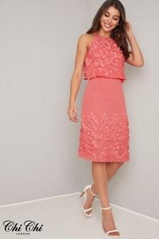 Chi Chi London Patterned Dress