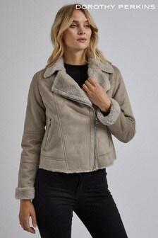 Dorothy Perkins Shearling Biker Jacket