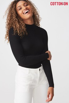 Cotton On Ribbed High Neck Knit Jumper