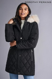Dorothy Perkins Petite Long Luxe Quilted Coat