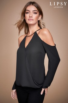 Lipsy Hardwear Cold Shoulder Top