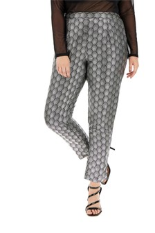 Simply Be Print Satin Tapered Trousers