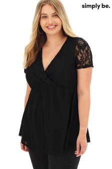 Simply Be Lace Wrap Tunic