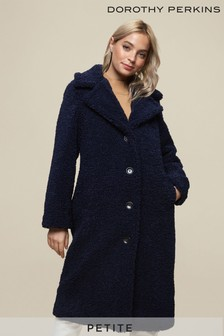 Dorothy Perkins Petite Long Line Teddy Coat