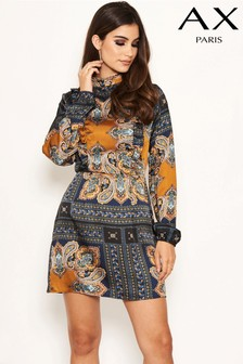 AX Paris Printed Frill Front Day Dress
