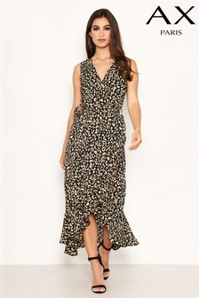 AX Paris Printed Wrap Dress
