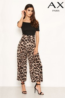 AX Paris 2 In 1 Leopard Jumpsuit