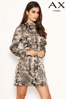 AX Paris Snake Printed Dress
