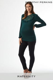 Dorothy Perkins Maternity Lace Insert Frill Top