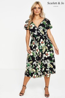 Scarlett & Jo Tulip Sleeve Pocket Dress