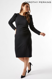 Dorothy Perkins Curve Ruched Sleeve Bodycon Dress