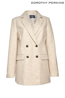 Dorothy Perkins Tall Oat Double Breasted Coat