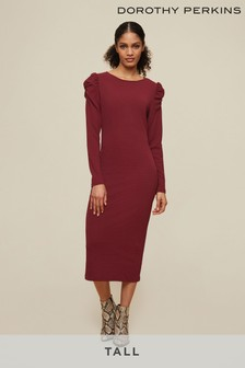 Dorothy Perkins Tall Ruched Sleeve Bodycon Dress