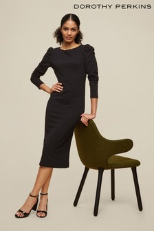 Dorothy Perkins Tall Ruched Sleeve Dress