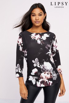 Lipsy Floral Boat Neck Top