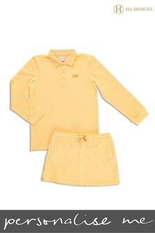 Personalised Mini Girls Skirt & Top Set by HA Designs