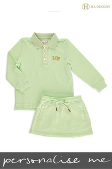 Personalised Mini Girls Skirt & Top Set by HA Designs