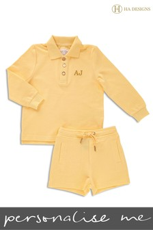 Personalised Mini Boys Short & Top Set by HA Designs