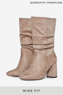 Dorothy Perkins Wide Fit Kinder Ruched Boot