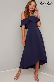 Chi Chi London Midi Bardot Dress