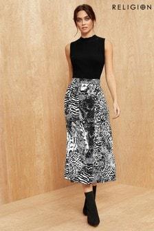 Religion Midi Skirt