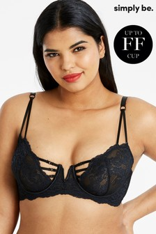 Simply Be Lauren Lace Balcony Bra DD+