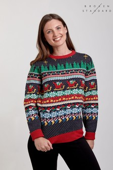 Broken Standard Wrapping Paper Christmas Jumper