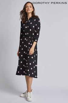 Dorothy Perkins Spot Midi Shirt Dress