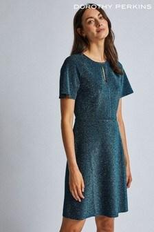 Dorothy Perkins Keyhole Lurex Fit & Flare Dress