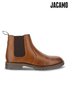 Jacamo Leather Chelsea Boot With Inside Zip