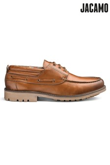 Jacamo Cleated Leather Boat Shoes