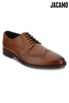 Jacamo Leather Classic Round Toe Brogue Shoes