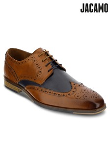 Jacamo Contrast Leather Brogue Shoes