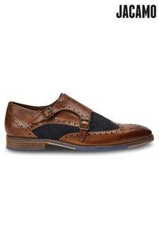 Jacamo Two Tone Leather Monk Shoes