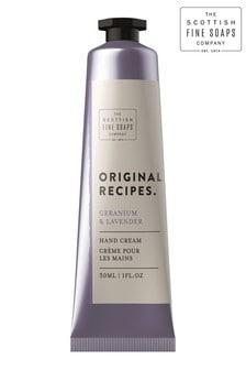 Scottish Fine Soaps Geranium  Lavender Hand  Nail Cream 30ml Tube