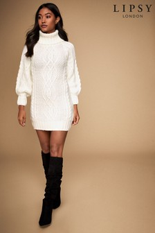 Lipsy Cable Roll Neck Tunic