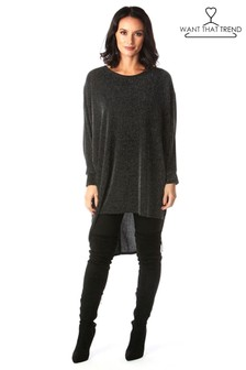 Want That Trend Shimmer Batwing Top