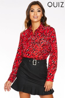 Quiz Mixed Animal Print Shirt