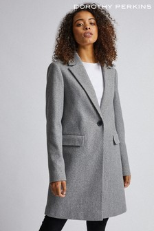 Dorothy Perkins Tall Minimal Lined Coat