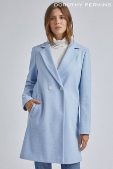 Dorothy Perkins Twill Single Breasted Crombie Coat