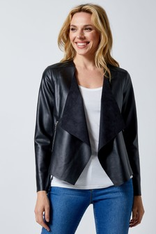 Dorothy Perkins Faux Leather Waterfall Jacket
