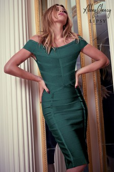Abbey Clancy x Lipsy Bardot Bandage Dress