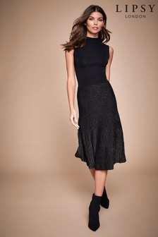 Lipsy 2 in 1 Pleated Dress