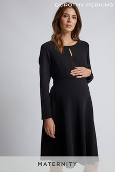 Dorothy Perkins Maternity Keyhole Seam Fit And Flare Dress