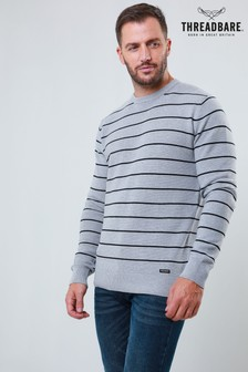 Threadbare Stripe Crew Neck Knit Jumper