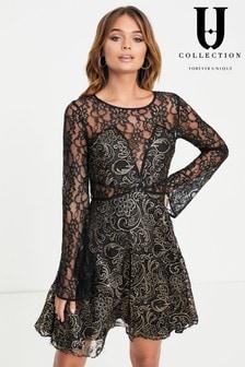 Короткое приталенное платье Forever Unique