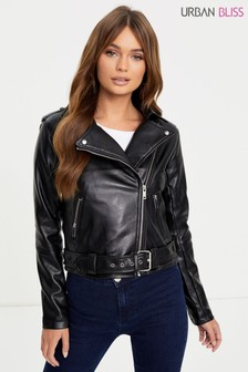 Urban Bliss Faux Leather Biker Jacket