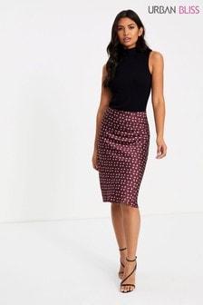 Urban Bliss Pipa Printed Satin Midi Skirt