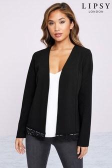Lipsy Lace Hem Jersey Jacket