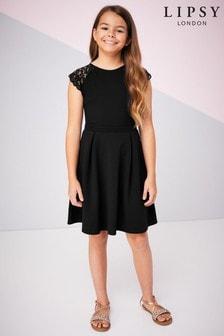 Lipsy Girl Lace Detail Skater Dress